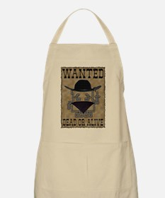 Wanted Dead or Alive BBQ Apron