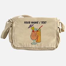 Custom Tropical Drinks Messenger Bag