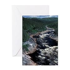 Pinware River, Canada, Newfoundland, Greeting Card