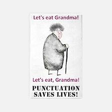 Lets Eat Grandma 3'x5' Area Rug