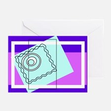 """O"" Squiggly Square Greeting Cards (Pk of 10)"