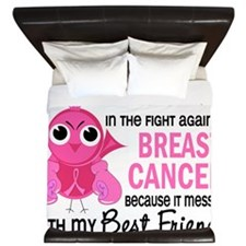 - Mad Chick 2 Best Friend Breast Cancer King Duvet