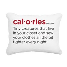 calories Rectangular Canvas Pillow