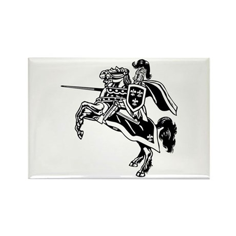 Mounted Knight Rectangle Magnet