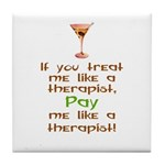Bartender/Therapist Tile Coaster