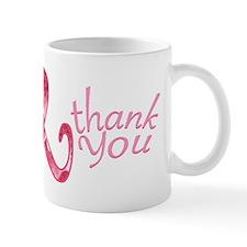 PinkRibbonThankYttr Small Mugs