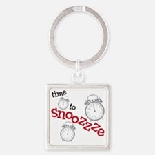 snooze Square Keychain