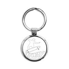 Jetway Skatepark White Round Keychain