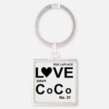 lovecocoshirT2.gif Square Keychain