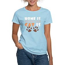 Home where cat is 1 light T-Shirt