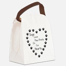 Dogs Leave Paw Prints 10 x 10 Canvas Lunch Bag