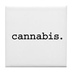 cannabis. Tile Coaster