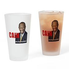 Beat Obama dark Drinking Glass