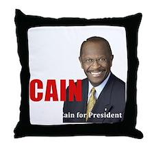 Beat Obama dark Throw Pillow