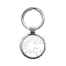 lovecocoshirT2white.gif Round Keychain