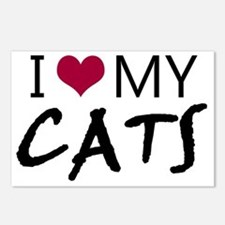 I heart my cats Postcards (Package of 8)