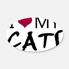 I heart my cats Oval Car Magnet