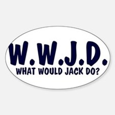What Would Jack Do? Oval Decal