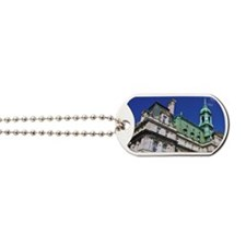Montreal. View of City Hall building with Dog Tags