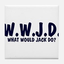What Would Jack Do? Tile Coaster