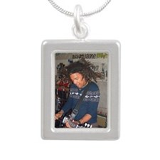gibsonstrummatt_key Silver Portrait Necklace