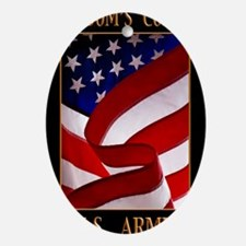 FREEDOM 11x14 ARMY Oval Ornament