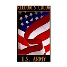 FREEDOM 11x14 ARMY Rectangle Car Magnet