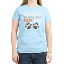 Home where cats are light T-Shirt