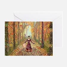 Lady Autumn (300 DPI, w sig) Greeting Card