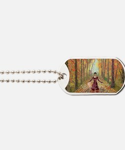 Lady Autumn (300 DPI, w sig) Dog Tags