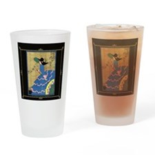 1 JAN LadyInBlue- BLK  Drinking Glass