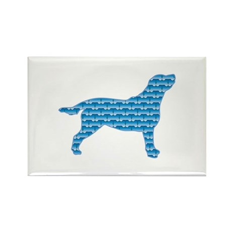 Bone Labrador Rectangle Magnet (100 pack)