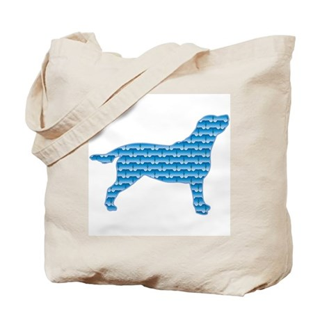 Bone Labrador Tote Bag