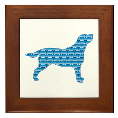 Bone Labrador Framed Tile