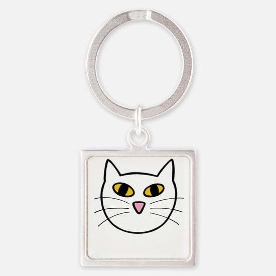 purrrfect light Square Keychain