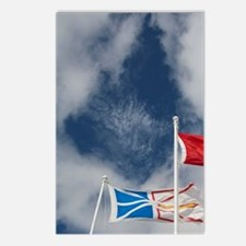 St. Anthony. Local flags  Postcards (Package of 8)