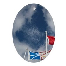 St. Anthony. Local flags Labrador, N Oval Ornament