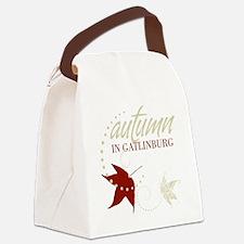 Gatlingburg_Black_Front Canvas Lunch Bag