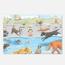 dog_pool_9X12_crp Postcards (Package of 8)