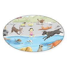 dog_pool_9X12_crp Decal