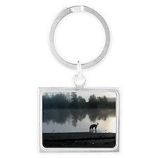 Junie_river_mist Landscape Keychain
