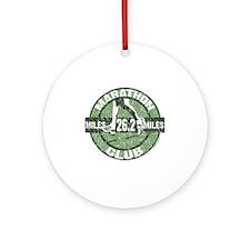 Marathon Club - Green Round Ornament