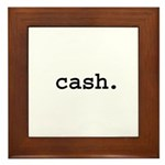 cash. Framed Tile