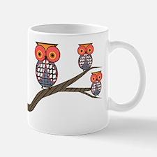 Retro Etsy Owls 3 on a branch Mug