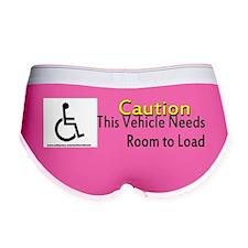 Caution Handicapped Women's Boy Brief