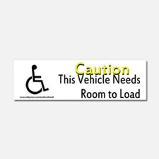 Caution Handicapped Car Magnet 10 x 3