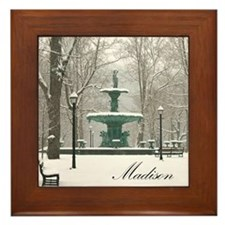 Winter fountain box Framed Tile
