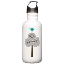 retro etsy tree with b Water Bottle