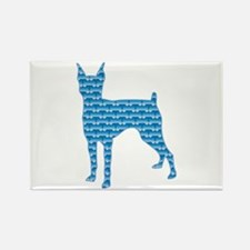 Bone Pinscher Rectangle Magnet