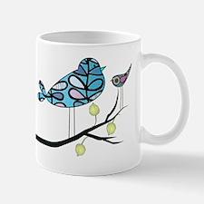 retro etsy bird on Branch 24 without fr Mug